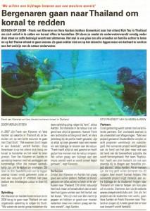 Bergenaren gaan naar Thailand om koraal te redden