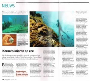 Koraaltuinieren op Zee NWT Magazine - 100901