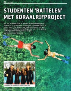 Resource - Studenten battelen met koraalproject