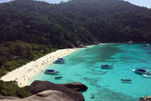 A view of the Similan Islands, located off the coast of southern Thailand - Hendric Tay