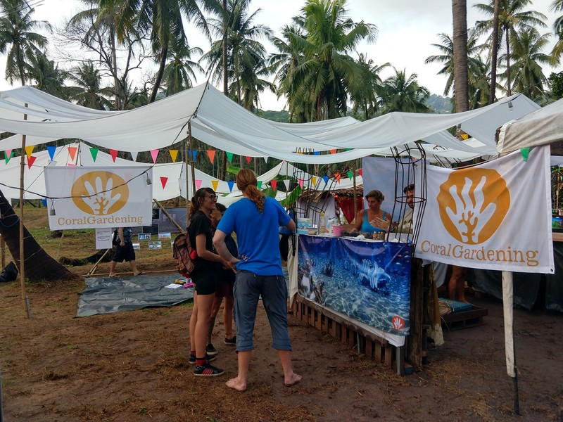 The CoralGardening booth at Save Koh Tao Festival