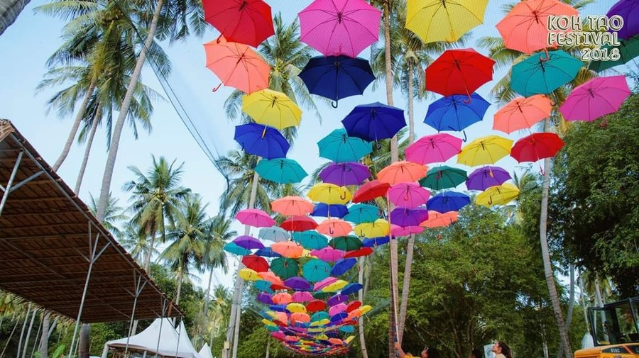 The beautiful decoration on the Save Koh Tao festival.