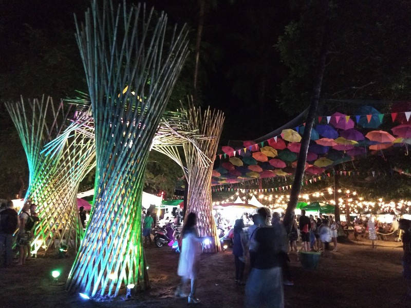 They made a really big effort to decorate the Save Koh Tao festival.