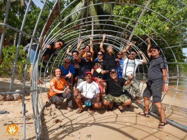 Het Coral Day 2018 team in de Domus Hippocampi.