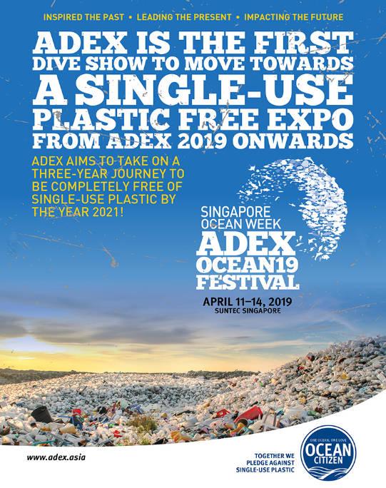 ADEX Singapore 2019 plastic free