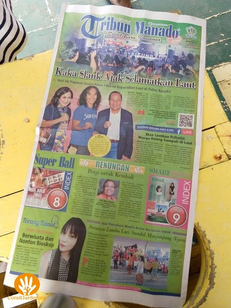 Hier een krant met de foto van Kaka met de burgemeester en zijn vrouw.