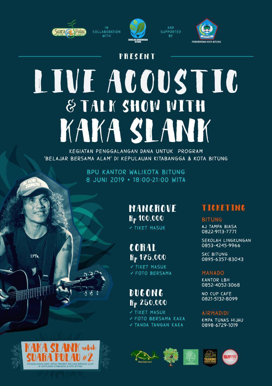 Flyer voor fondsenwerving evenement met Kaka Slank.