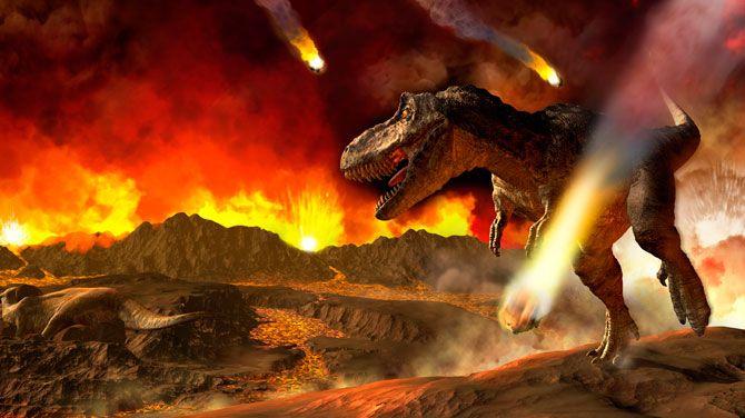 Dinosaurussen stierven uit door meteoriet inslag