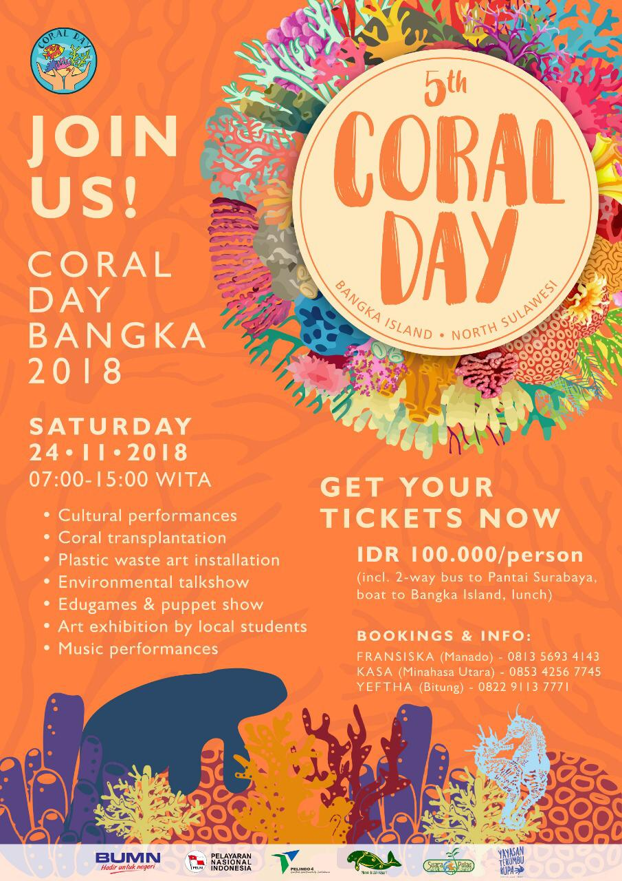 Coral Day 2018 on Bangka Island Indonesia