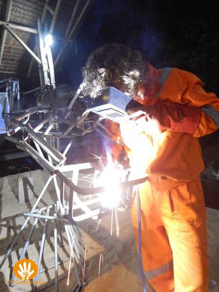 Vera is welding